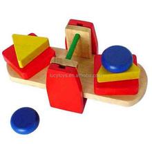 هندسية خشبية تعلم لعبة التوازن