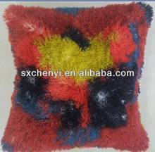 2014 New cushion of 100% Polyester fake fur with figure print