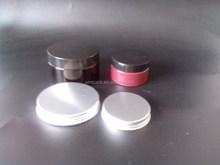 Not clear red black pet cream jar