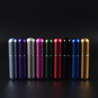 5ml Mini Refillable Traveler Aluminum Spray Atomizer Empty Perfume Bottle