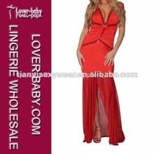 nueva marca de color rojo cabestro vestido de noche vestidos de traje de lencería mujer vestido largo