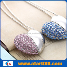 Best promoted Jewelry usb pendrive, heart shape usb stick memory, USB flash drive2.0