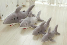 New arrival larger stuffed plush shark toy animals conform to EN71