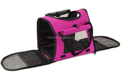 Pet Carrier - Dog Cat House Soft Crate Cage Tote Kennel - Portable Travel - Pink