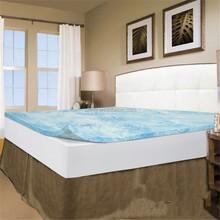 Memory Foam Bed Mattress 2 Inch Topper Cover Pad Bedroom 5 Zone Gel FoamCal King