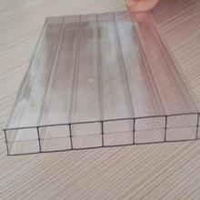 Plástico transparente para techos paneles el 16 mm de triple pared policarbonato hoja hueco
