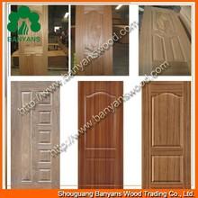 natural ash/teak/sapele/red oak HDF molded door skin