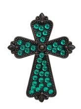 Hot selling religious cross with acrylic beads; Crucifix made of polyresin and acrylic
