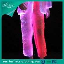 fiber optics fabric mens tight pants