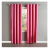 Microfiber Polyester Blackout Curtain for Living Room with grommets,Pink color