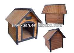 Handmade dog kennel with a-frame top / Wooden small pet house for dogs