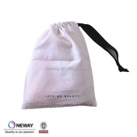 2015 cotton pouch with ribbon for cosmetic,dust pouch bags with ribbon for accessories,brushed cotton dust bag with ribbon