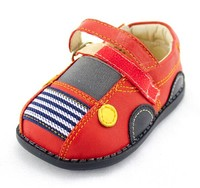 Korean style soft sole genuine shoes with fleece inside baby leather shoes