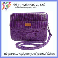 Elegant Purple Crocodile Pattern PVC Leather tablet pouch / tablet sleeve