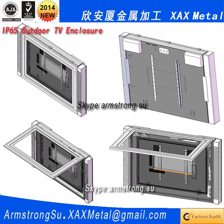 xax28tv double side lcd advertising media display metal