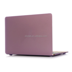 For 12 inch New Macbook case rubberized hard pc cover protective laptop shell- Light purple