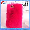New arrived fashion popular rabbit fur flip cover for iphone 6 6plus case