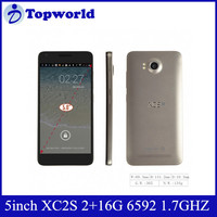 2015 New Arrival! XC2S 1920*1080 pixels Quad core MTK 6592 2GB RAM 16GB ROM Dual Sim 5.0 inch OEM Android 4.4 Smartphone