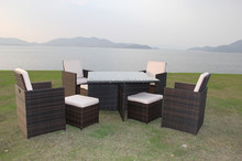 Aluminium table Outdoor Furniture General Use and Dining Room Set,Garden Set Specific Use heavy-duty dining table and chairs