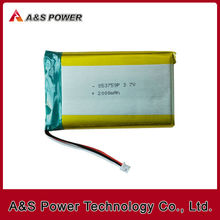 853759 3.7V 2000mAh rechargeable lithium polymer battery