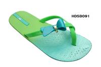 New product Factory Direct sales flip flop Bright Light Green girl flip flop,woman flip flop