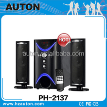 2015 new 2.1 multimedia active subwoofer speaker system with amplifier