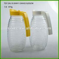 Cross Stripes Glass 1.5 Liter Juice Bottle