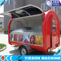 mobile fruits cart coffe kiosks for sale
