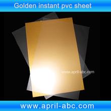 Laser Print PVC sheet for cards making golden color