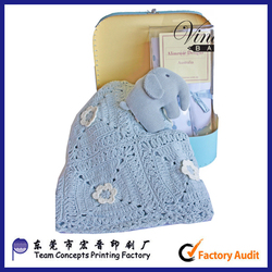 Cardboard suitcase box for baby towel and cloth packaging