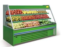 Upright Supermarket fruit and vegetable open display freezer case