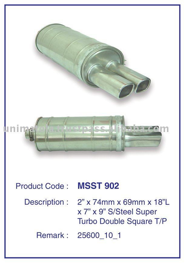 Turbo silenciador, Turbo tubo de escape