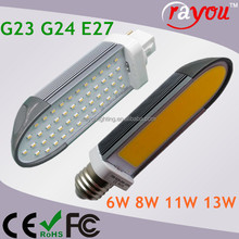 G23 G24 Led pl lamp, 11w 13w led pl light, smd plc led lamp for cfl replacement
