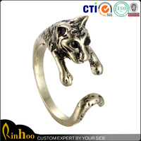 Hot sale Trends New Product Men Adjustable Ring With Animal Cheetah