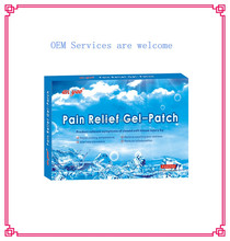 pain relief gel patch for muscle strains, bruised and sprains