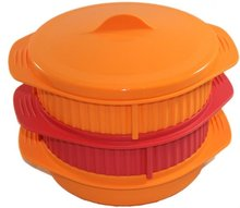 folded silicone steamer