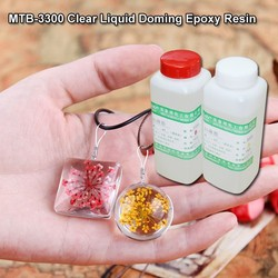No Yellowing Clear Liquid Epoxy Resin for Doming of Pendant