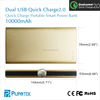 2015 Newest Portable Power Bank 10000mah Mobile Power Bank With Qualcomm Quick Charger 2.0 For iphone 6s Plus / ipad Pro