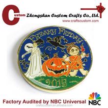 Halloween metal souvenir coin