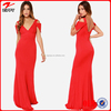 2015 New design formal dress cap sleeve red long formal dress/gown