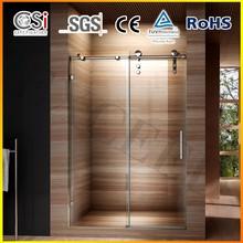 Popular SS big roller wall to wall sliding shower door 1200x1900mm EX-807