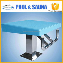 Swimming pool blue competitive starting block
