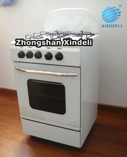 freestanding electric cooking gas oven with 4 burners ,cooking oven with grill,single tempered glass door
