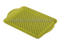 Durable double non-slip food serving tray with handle