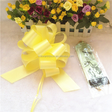 2015 newest yellow Pull Ribbon Bow flowers