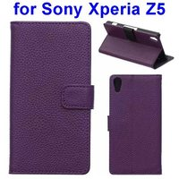 alibaba china manufacturer PU Leather mobile phone case cellular wallet card stand case for for sony xperia z5 made in China