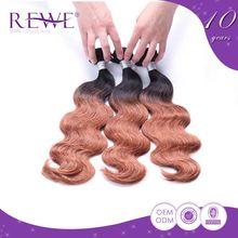100% Good Feedback Clean And Soft Style Korean Long Locks Ombre Virgin Hair Girls