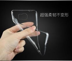 Super Slim TPU Transparent Back Cover Case for Samsung Galaxy S6 G9200