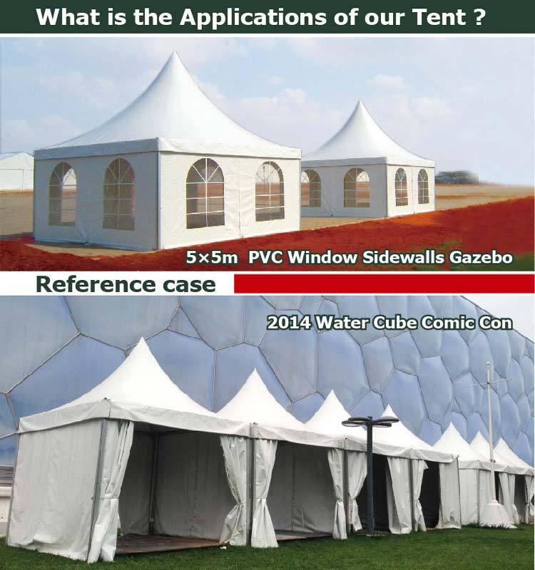 Meilleur prix de tente-marquise 5x5 en forme de pagode pour belvédère extérieur