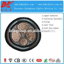 Cu 0.6/1kv/xlpe/swa/pvc cable de alimentación xlpe cable de alimentación blindado cable blindado
